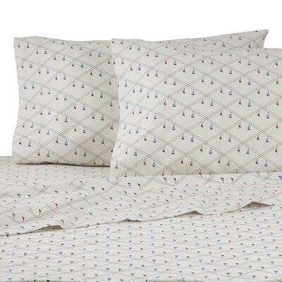 Ski Lift Diamond 100% Cotton Sheet Set Size: Queen