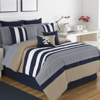 Classic Stripe Comforter Set Size: California King