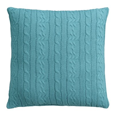 Cable Knit Decorative Throw Pillow Color: Larkspur