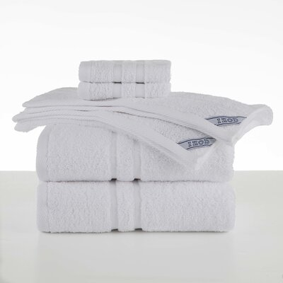 Dry Fast 6 Piece Towel Set Color: White