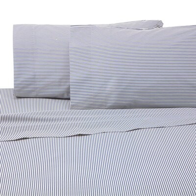 Bradley Stripe 225 Thread Count Sheet Set Size: Twin XL