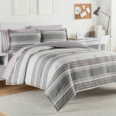 Caldwell 100% Cotton Comforter Set Size: Full/Queen