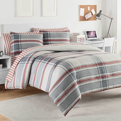 Hyde 100% Cotton Comforter Set Size: King