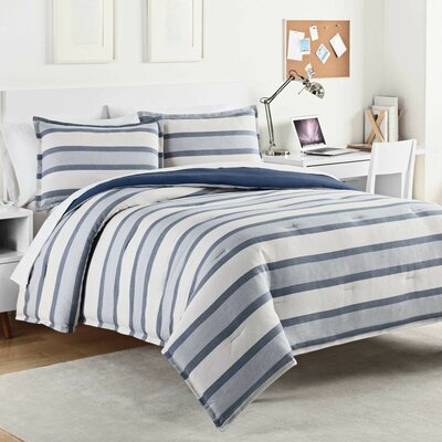 Kenton 100% Cotton Comforter Set Size: Full/Queen