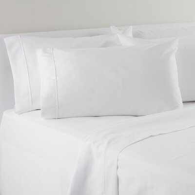 Solid Sheet Set Size: California King, Color: White