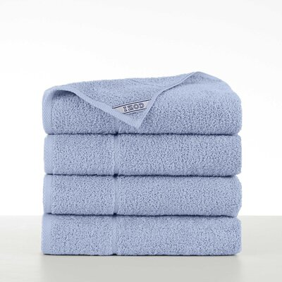 Performance 4 Piece Bath Towel Set Color: Chambray