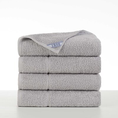 Performance 4 Piece Bath Towel Set Color: Light Gray