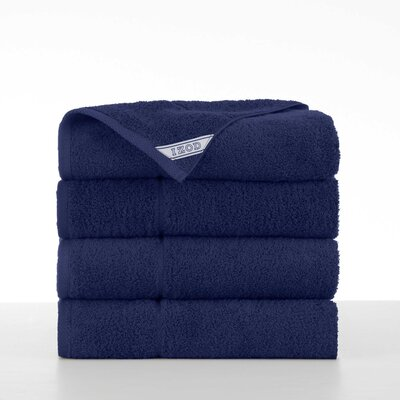 Performance 4 Piece Bath Towel Set Color: Soft Navy