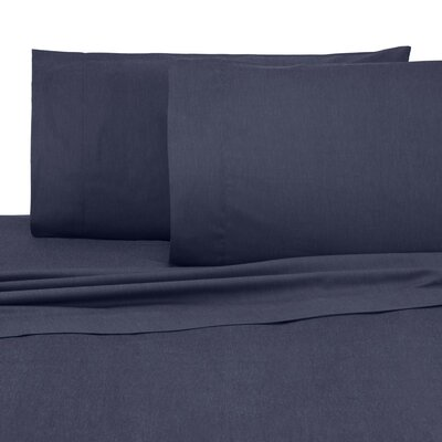 Relaxed Classic Pillow Case Size: King, Color: Navy