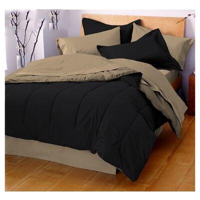 Gil Reversible Comforter Size: Twin, Color: Ebony / Khaki