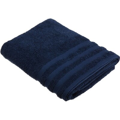 Egyptian Bath Towel Color: Navy