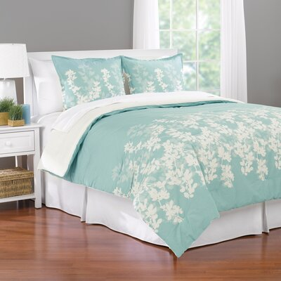 Shadow Leaf Reversible Comforter Set Size: King