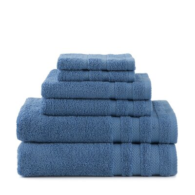 Egyptian 6 Piece Towel Set Color: French Blue