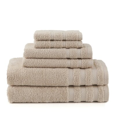 Egyptian 6 Piece Towel Set Color: Double Cream