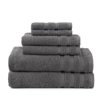 Egyptian 6 Piece Towel Set Color: Grey