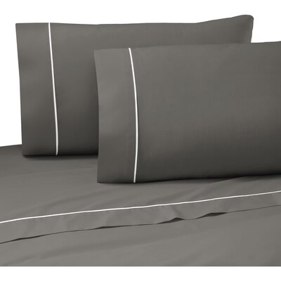 Pipeline 200 Thread Count Graphite Sheet Set Size: Twin XL