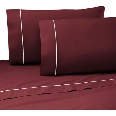Pipeline Sheet Set Color: Burgundy, Size: King