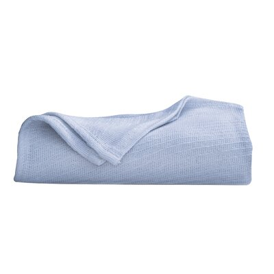 Cotton Blanket Color: Blue, Size: King