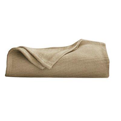 Cotton Blanket Size: Twin, Color: Khaki