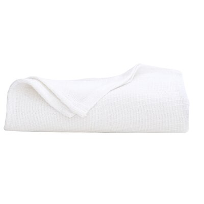 Cotton Blanket Color: White, Size: Full / Queen