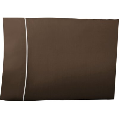Pipeline Pillow Case Color: Chocolate, Size: Queen