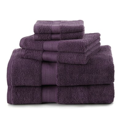 Abundance 6 Piece Towel Set Color: Black Plum
