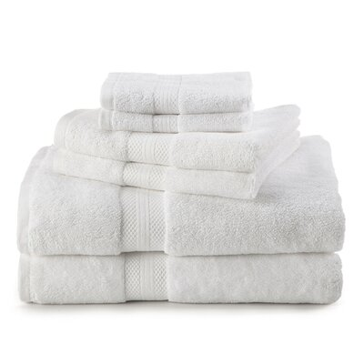 Abundance 6 Piece Towel Set Color: Optical White