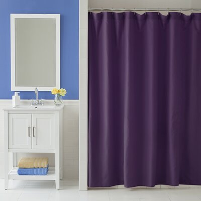 Odelia Martex Shower Curtain Color: Black Plum