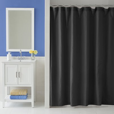Odelia Martex Shower Curtain Color: Black