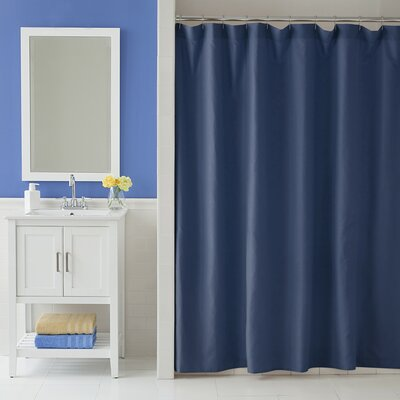 Odelia Martex Shower Curtain Color: Navy