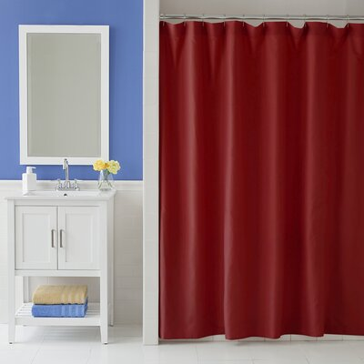 Odelia Martex Shower Curtain Color: Red