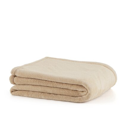 Plush Throw Blanket Color: Linen