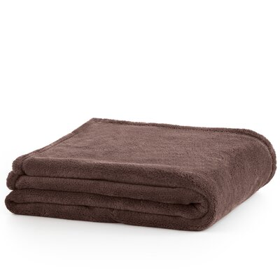 Plush Throw Blanket Color: Brown