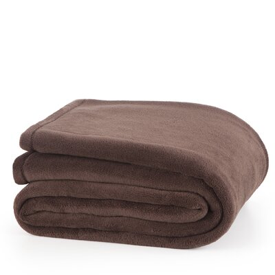 Plush Throw Blanket Color: Brown, Size: King
