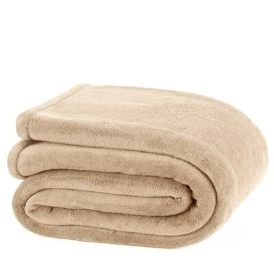 Plush Throw Blanket Size: Full / Queen, Color: Linen