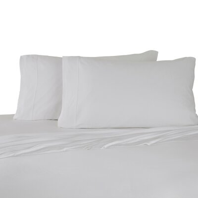 Bare Necessities Jersey Modal Cotton Sheet Set Color: White, Size: Twin XL