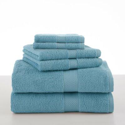 Roxann 6 Piece Towel Set Color: Island Blue