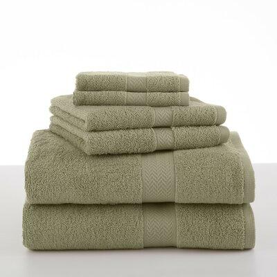Roxann 6 Piece Towel Set Color: Sea Green