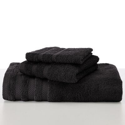 Egyptian Hand Towel Color: Black
