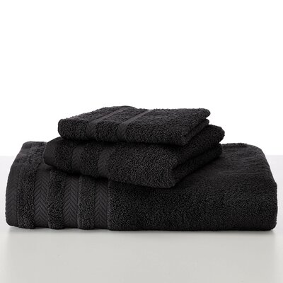 Egyptian Wash Cloth Color: Black