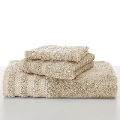 Egyptian Bath Towel Color: Sand / Double Cream