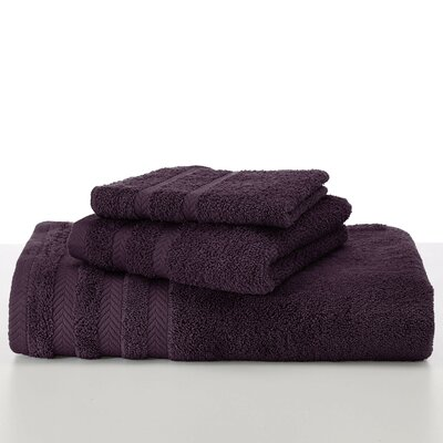 Egyptian Wash Cloth Color: Black Plum