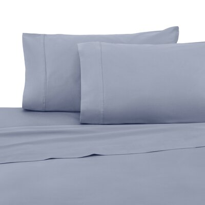 400 Thread Count 100% Cotton Sheet Set Color: Light Blue, Size: Queen