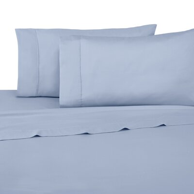 Luxe 300 Thread Count 100% Cotton Sheet Set Color: Blue, Size: Twin