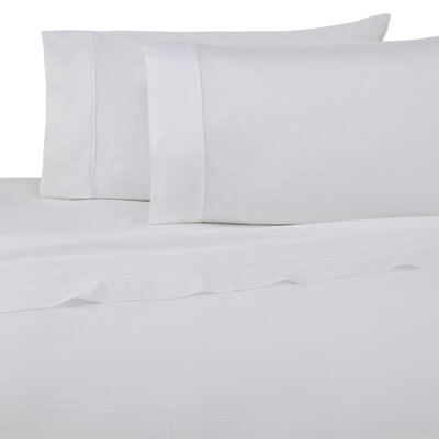 Luxe 300 Thread Count 100% Cotton Sheet Set Color: White, Size: Twin