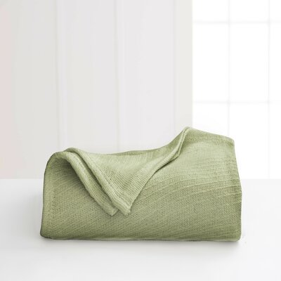 Cotton Blanket Color: Sage, Size: King