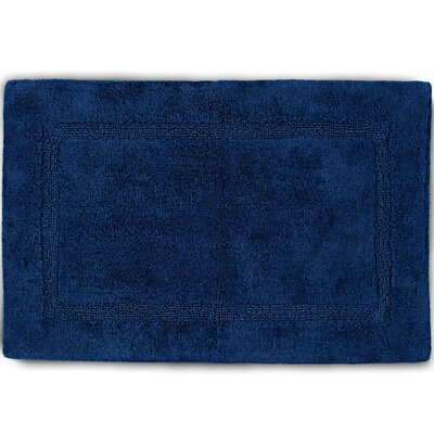 Basic Bath Rug Color: Navy, Size: 17 W x 24 L