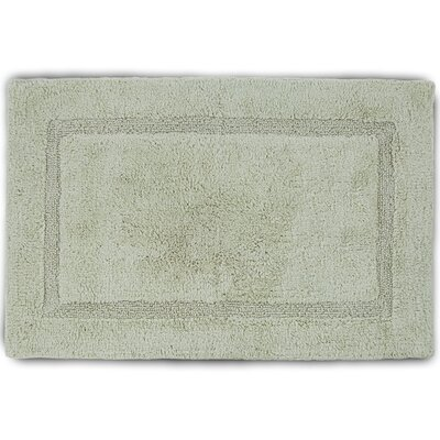 Basic Bath Rug Color: Soft Jade, Size: 17 W x 24 L
