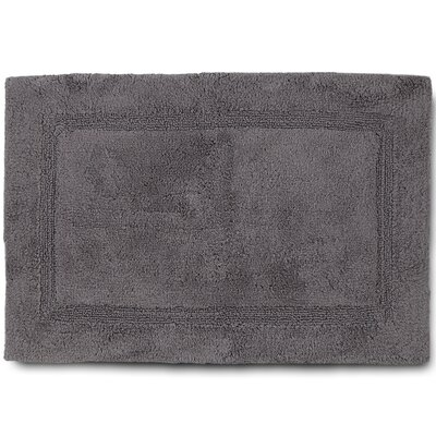 Basic Bath Rug Color: Gray, Size: 17 W x 24 L