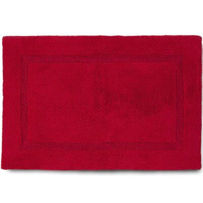Basic Bath Rug Color: Red, Size: 17 W x 24 L